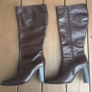 J. Crew leather knee high boots